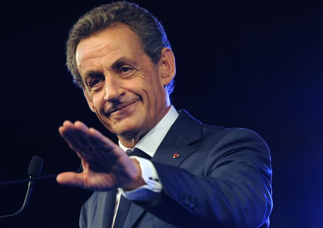 French former President and head of French right-wing opposition party Les Republicains (LR) Nicolas Sarkozy