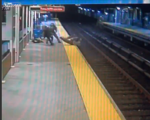 Man Falls Onto Train Tracks After Being Tased During Robbery