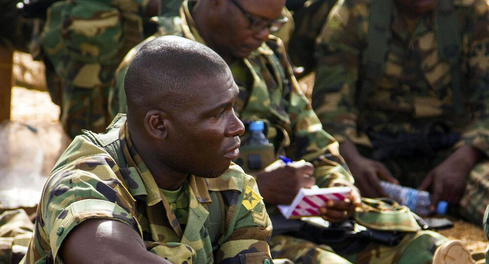 U.S. Marines and soldiers from West African partner nations conduct training during exercise WA 14