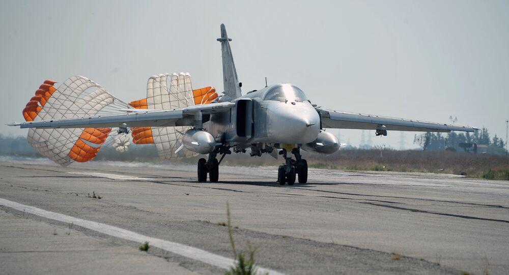 Russian aircract at Hmeimim Air Base in Syria