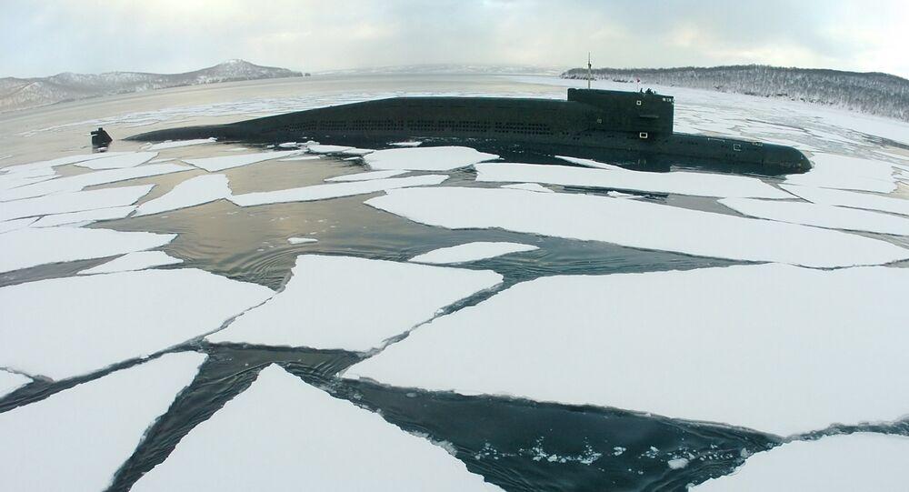 Ballistic missile submarine in the sea. File photo
