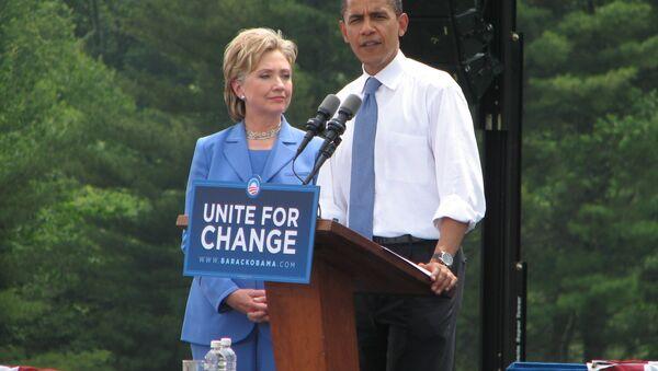Obama, Clinton - Sputnik International