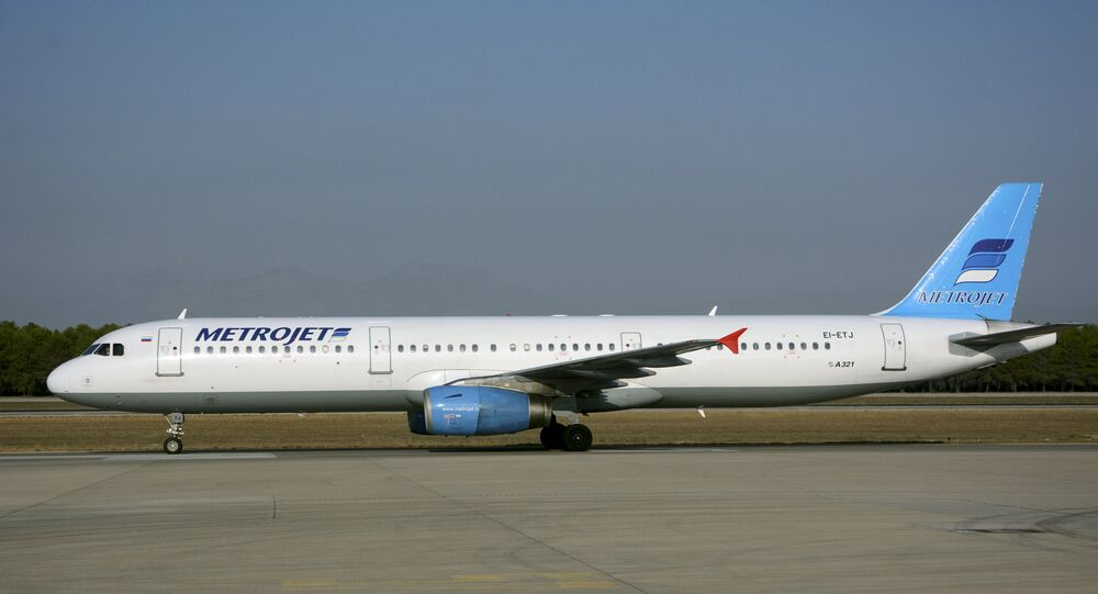 The Metrojet's Airbus A-321 with registration number EI-ETJ that crashed in Egypt's Sinai peninsula, is seen in this picture taken in Antalya, Turkey September 17, 2015