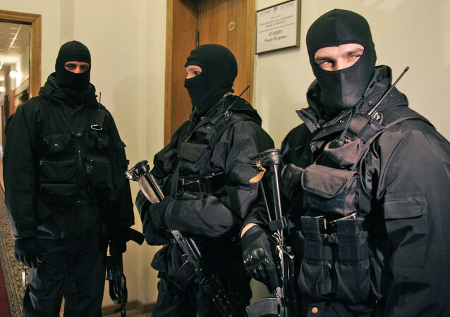 Ukrainian national security service armed agents. File photo