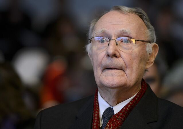 Ikea founder Ingvar Kamprad attends the inauguration of the Margaretha Kamprad Chair of Environmental Science and Limnology on December 3, 2012 at the Swiss Federal Institutes of Technology of Lausanne (EPFL) in Lausanne