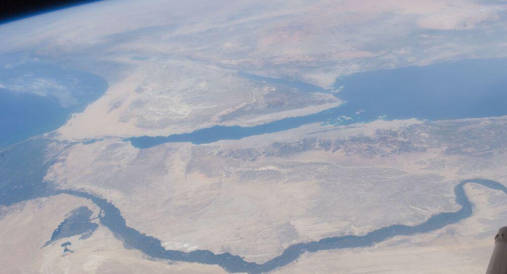Nile River Delta, Sinai Peninsula (NASA, International Space Station, 07/10/11)