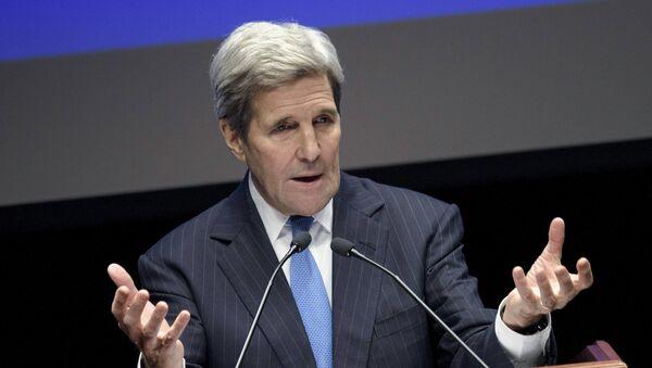 U.S. Secretary of State John Kerry speaks at Nazarbayev University on November 2, 2015 in Astana - Sputnik International