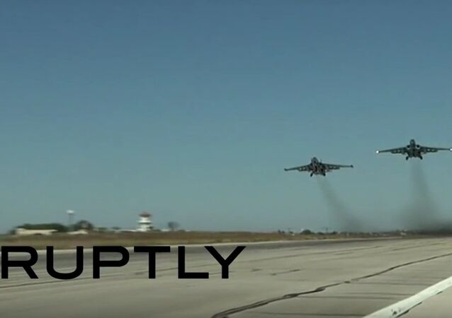 Russian Sukhoi jets set off from Latakia base to target ISIS positions.
