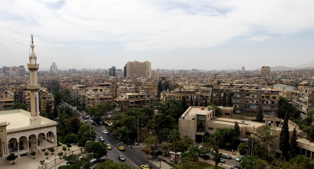 A general view shot taken on September 29, 2015, shows a neighbourhood in the Syrian capital Damascus
