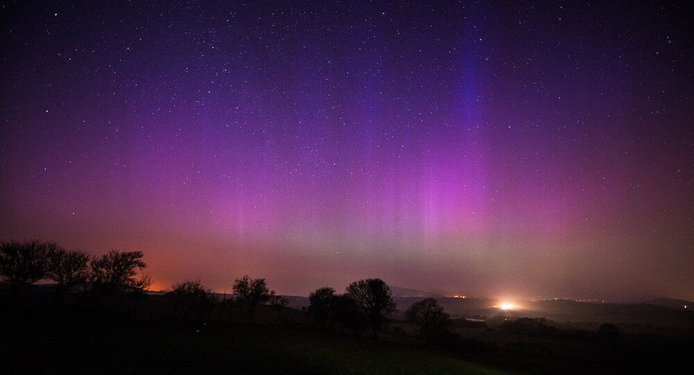 Northern lights seen in Wales in March, 2015.