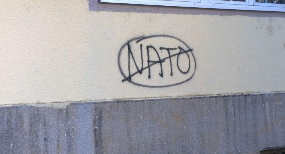Anti-NATO graffiti in Montenegro