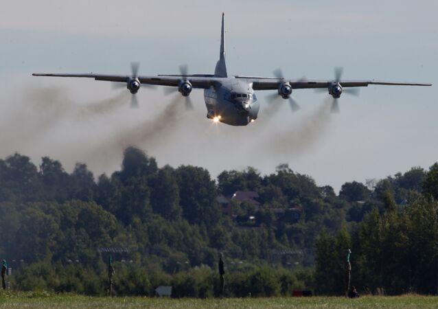 An Antonov-12 aircraft