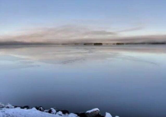 29 10 2015 Time Lapse of Hornavan lake freezing