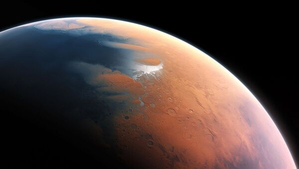 An artist's impression shows how Mars may have looked about four billion years ago. - Sputnik International