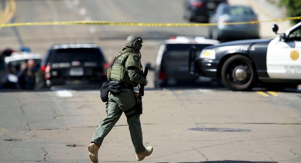A SWAT team officer