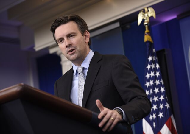 White House press secretary Josh Earnest speaks during the daily briefing at the White House in Washington.