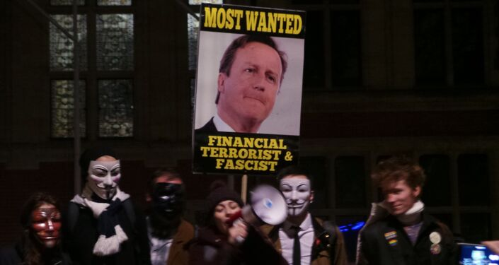 Million Mask March organized by Anonymous in central London on November 5, 2015.
