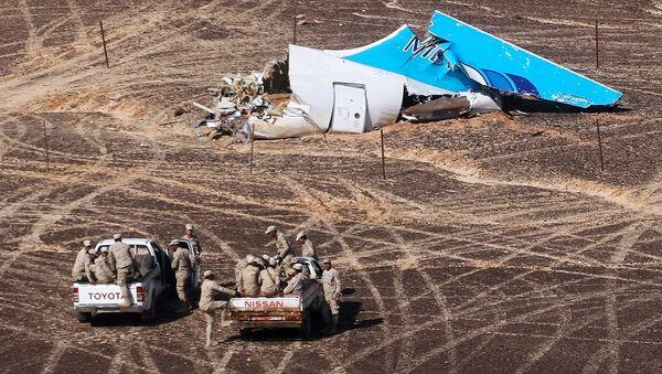 The A321 crash site in Egypt. - Sputnik International