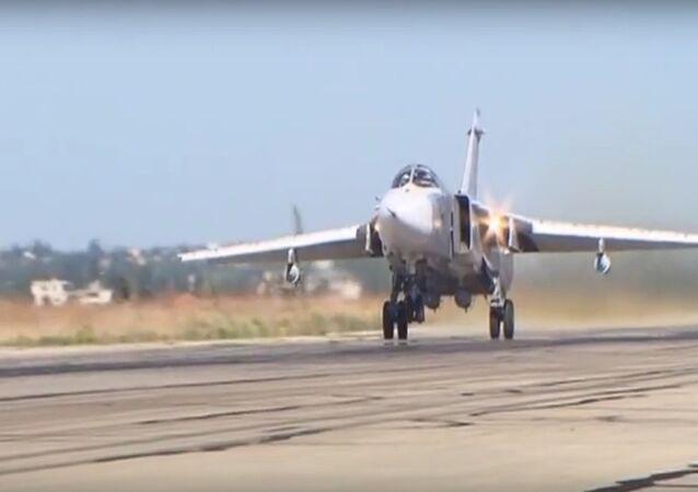 Su-24M Take Off From Hmeymim Airbase