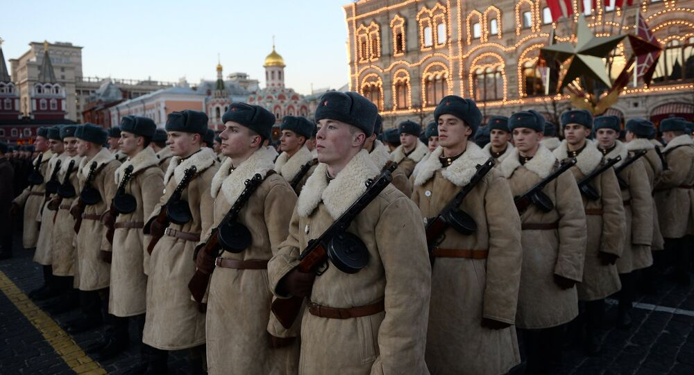 Rehearsal of march to mark legendary 1941 military parade
