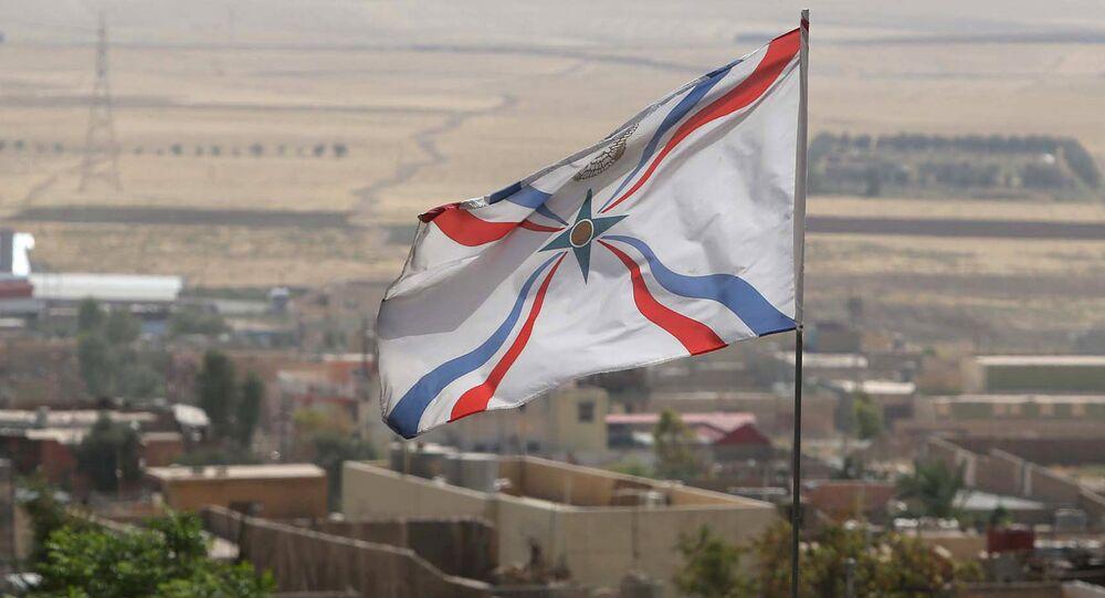 Christian Assyrian flag. File photo
