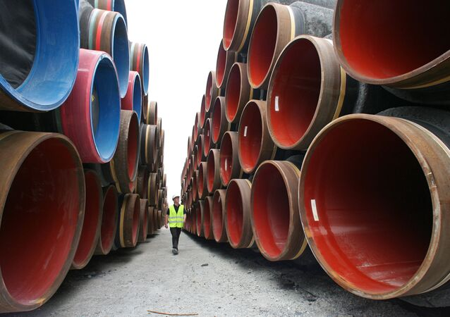 Construction of Nord Stream pipeline