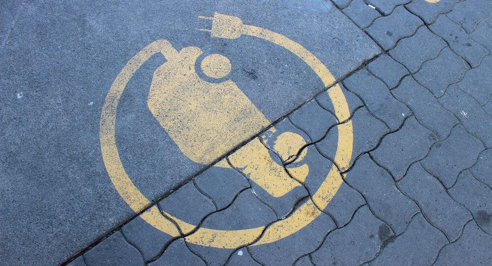 Electric Car Charging Station Symbol