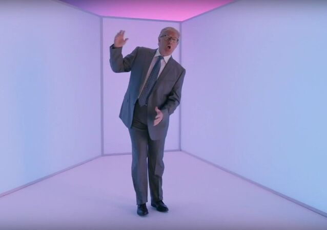 Still from Trump's appearance in a parody of Hotline Bling