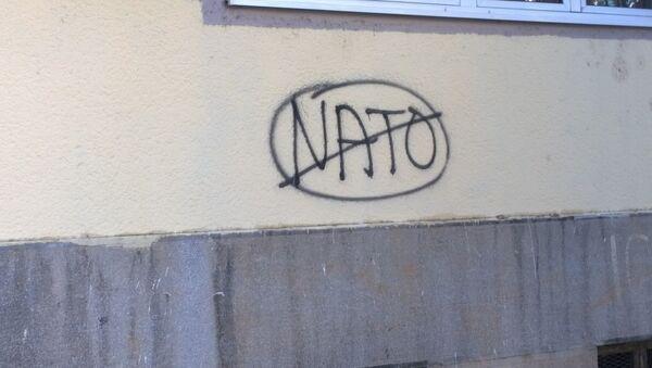 Anti-NATO graffiti in Montenegro - Sputnik International