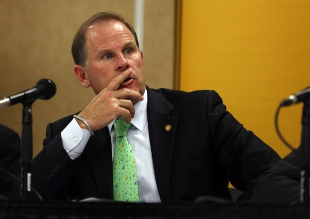 University of Missouri President Tim Wolfe participates in a news conference in Rolla, Mo.