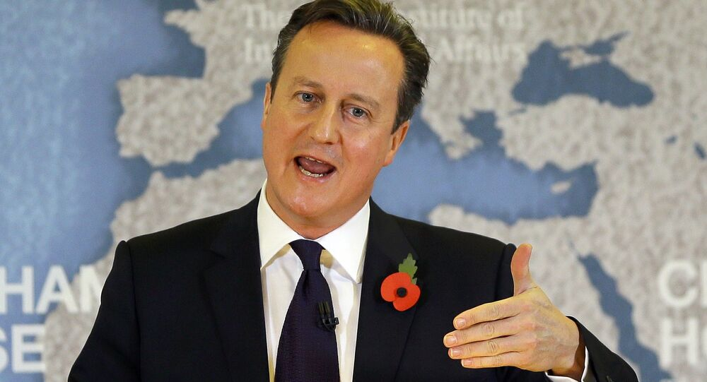 Britain's Prime Minister David Cameron delivers a speech on EU reform, at Chatham House in London, Britain November 10, 2015.