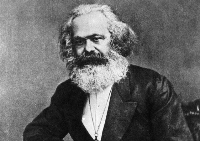 German philosopher and economist Karl Marx. Late 1870s. Reproduction