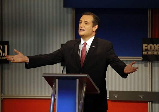 Ted Cruz speaks during the Republican presidential debate.