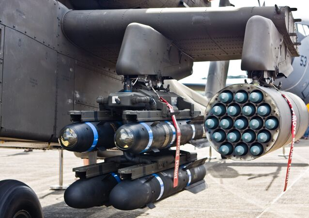AGM-114 Hellfire Anti-Tank missiles and Hydra 70mm rockets