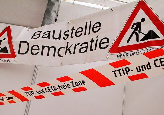 Anti-TTIP sign