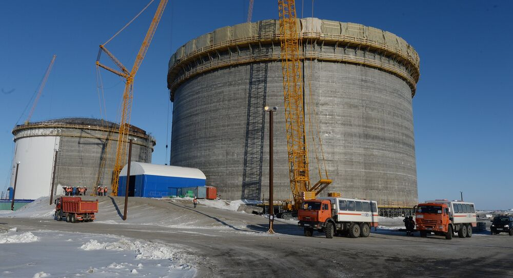 LNG plant construction