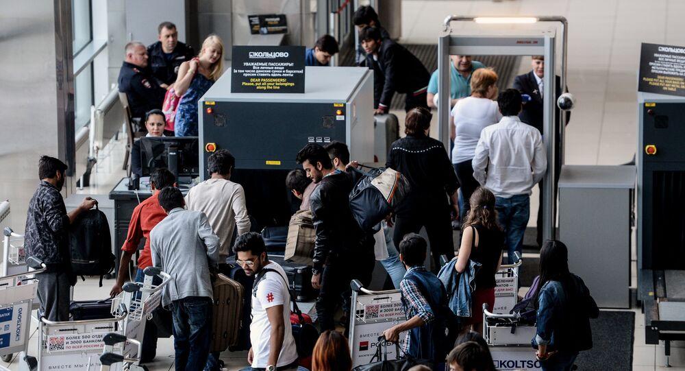 Passengers at Yekaterinburg's Koltsovo airport