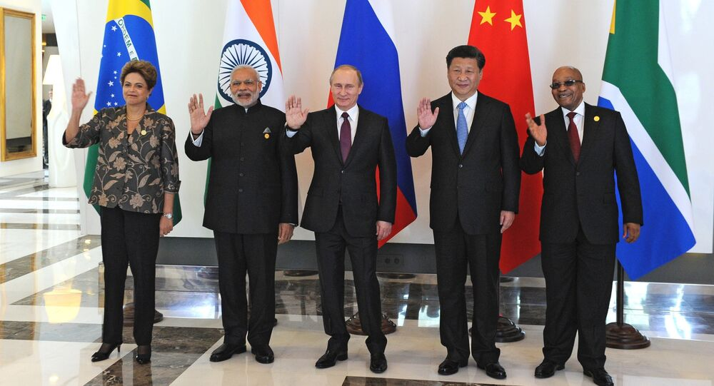Russian President Vladimir Putin takes part in informal BRICS summit in Antalya