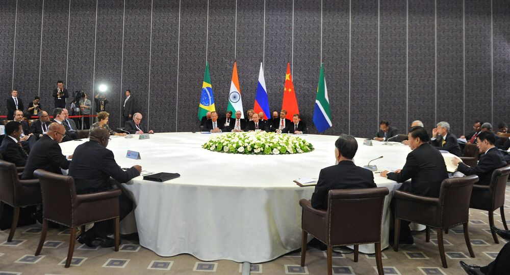 Russian President Vladimir Putin takes part in unofficial BRICS summit in Antalya