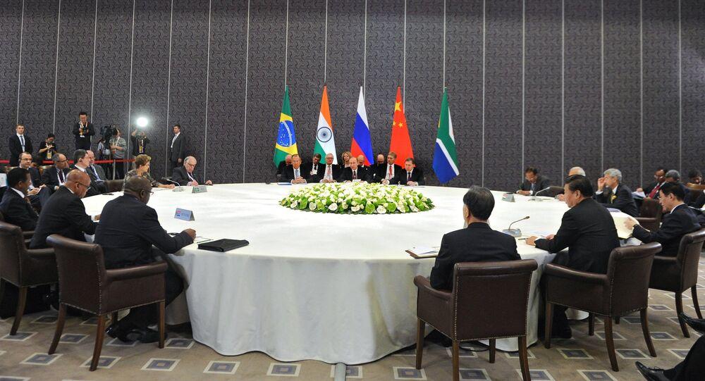 Russian President Vladimir Putin takes part in unofficial BRICS summit in Antalya
