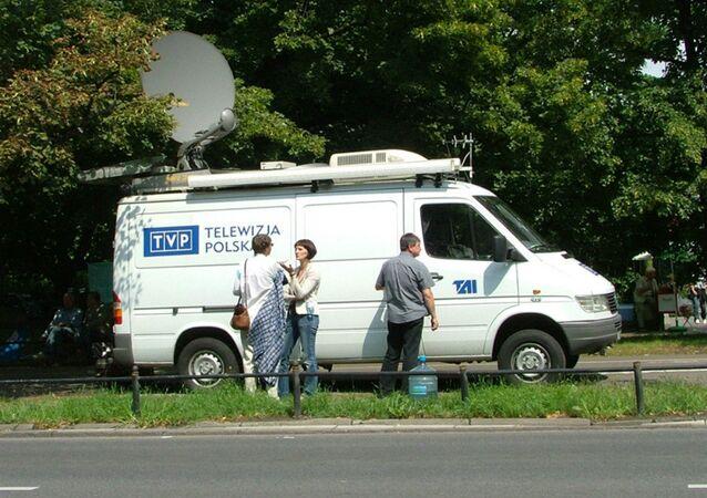 TVP news van.