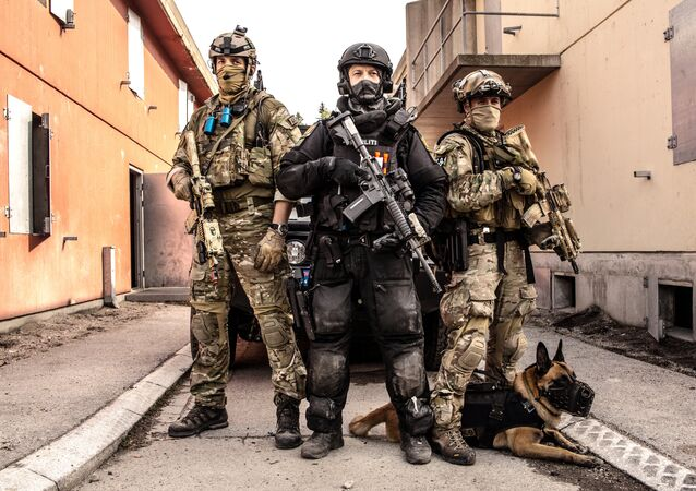 FSK (Armed Forces' Special Command), MJK (Navy Ranger Command) and Beredskapstroppen (Fast Response Team) hold a counter-terrorism training in Rena camp at the final stage of Gemini 2014 exercises
