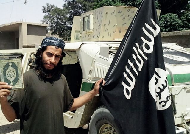 This undated image made available in the Islamic State's English-language magazine Dabiq, shows Abdelhamid Abaaoud