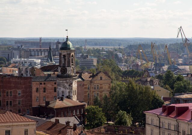 Vyborg. A view from St. Olav's tower