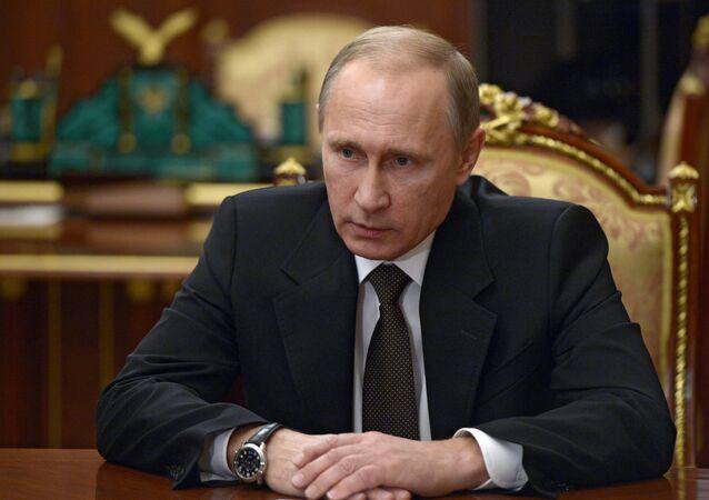 Russian President V. Putin held meeting in the Kremlin