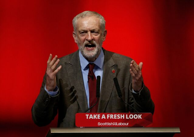 Jeremy Corbyn, leader of Britain's opposition Labour Party