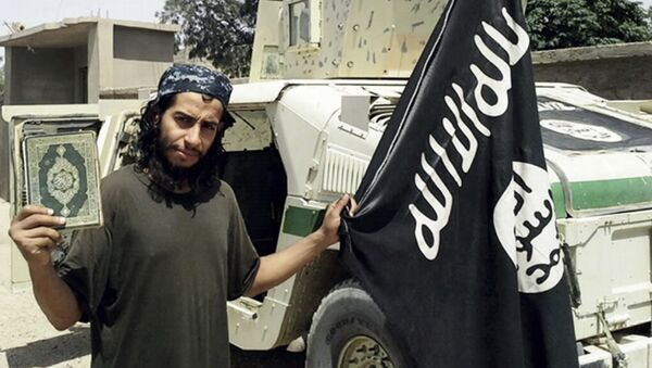 This undated image made available in the Islamic State's English-language magazine Dabiq, shows Belgian Abdelhamid Abaaoud - Sputnik International