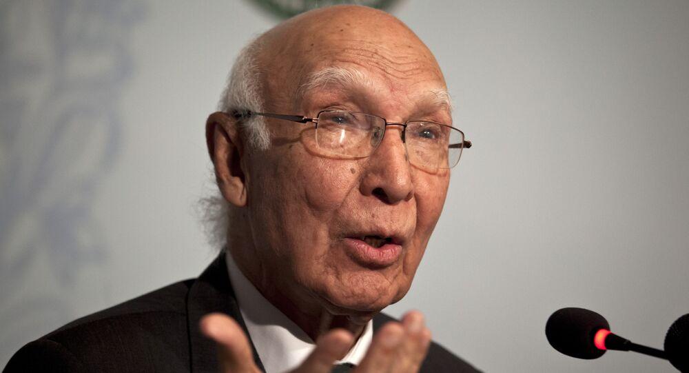 Pakistan's National Security Adviser Sartaj Aziz.