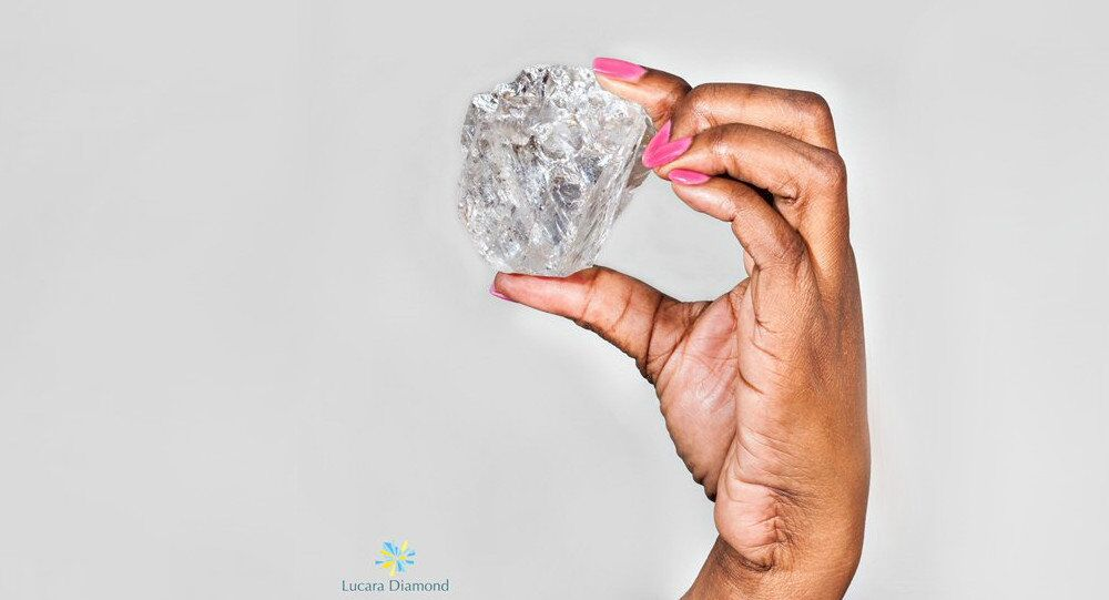 The world's second largest diamond that has been discovered in the Karowe mine in Africa.