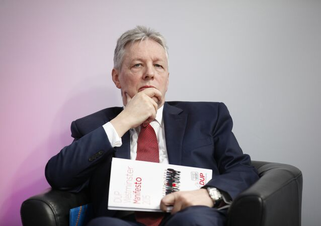 Northern Ireland First Minister and Democratic Unionist Party leader Peter Robinson.